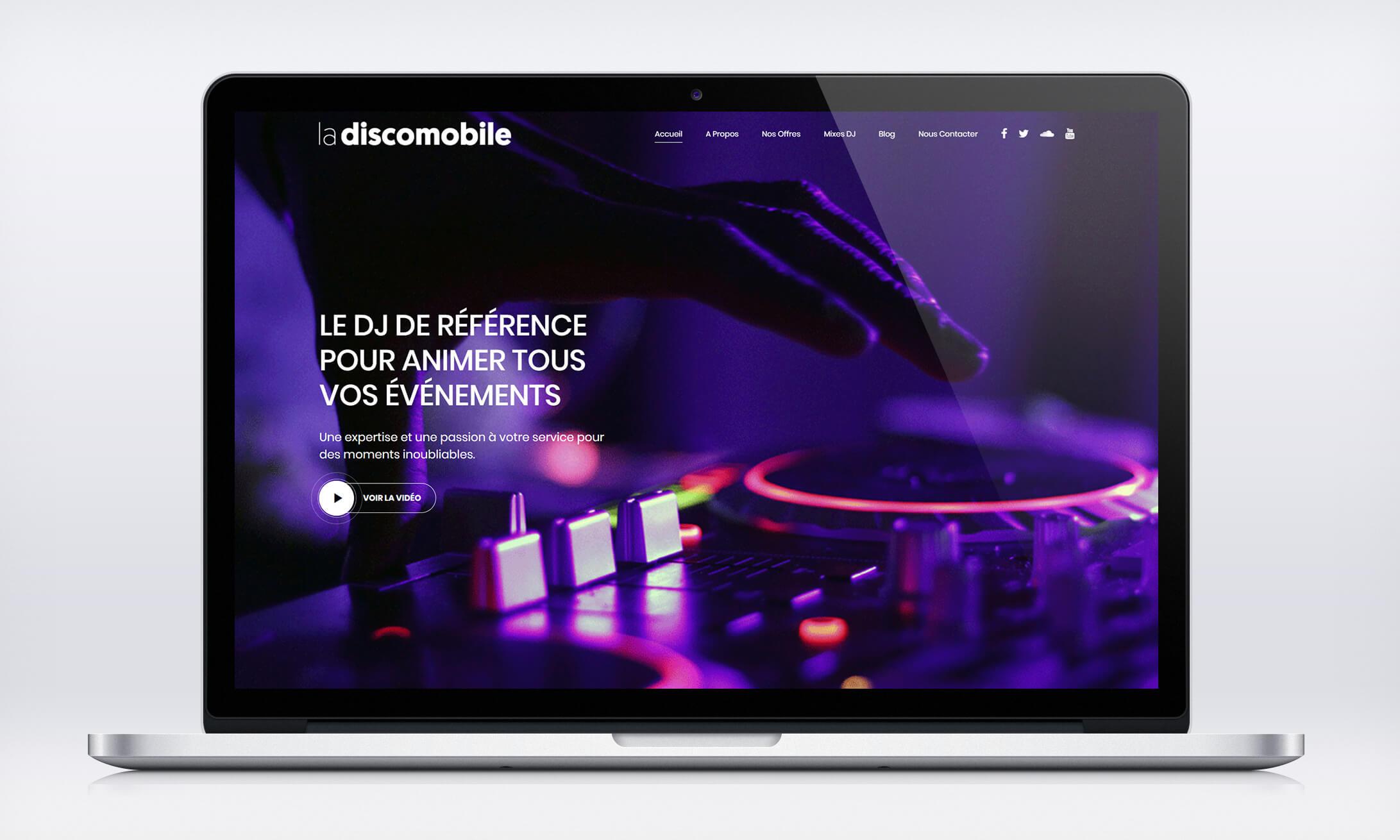 La Discomobile – Site Internet